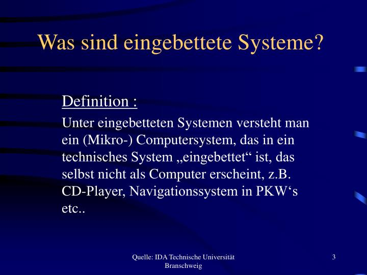Was sind eingebettete systeme
