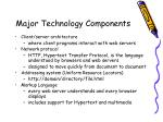 major technology components