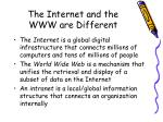 the internet and the www are different