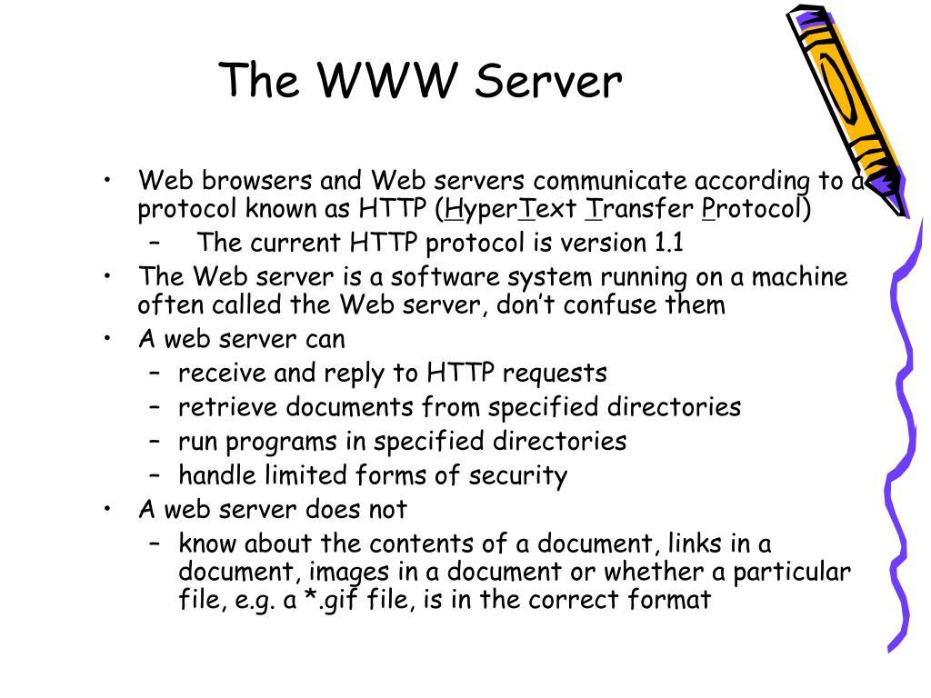 The WWW Server