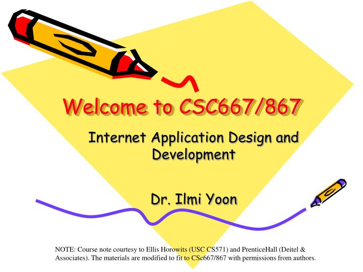 Welcome to csc667 867