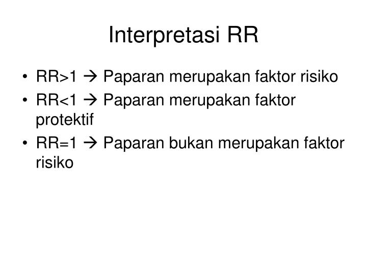 Interpretasi RR