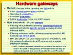 hardware gateways