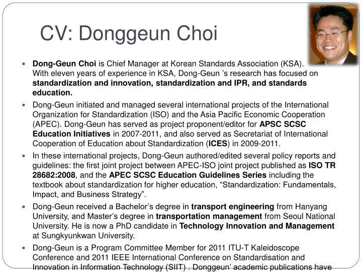 Cv donggeun choi