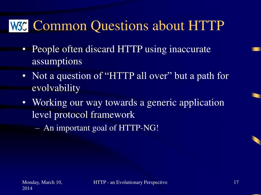 Common Questions about HTTP