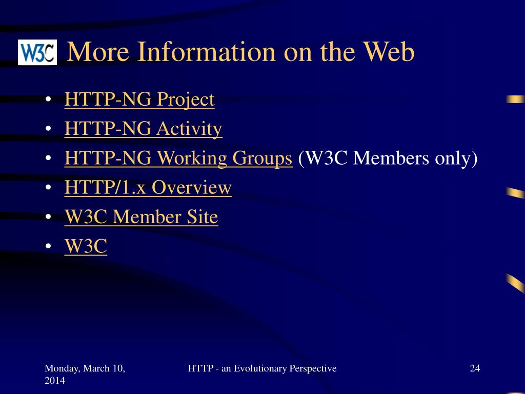 More Information on the Web