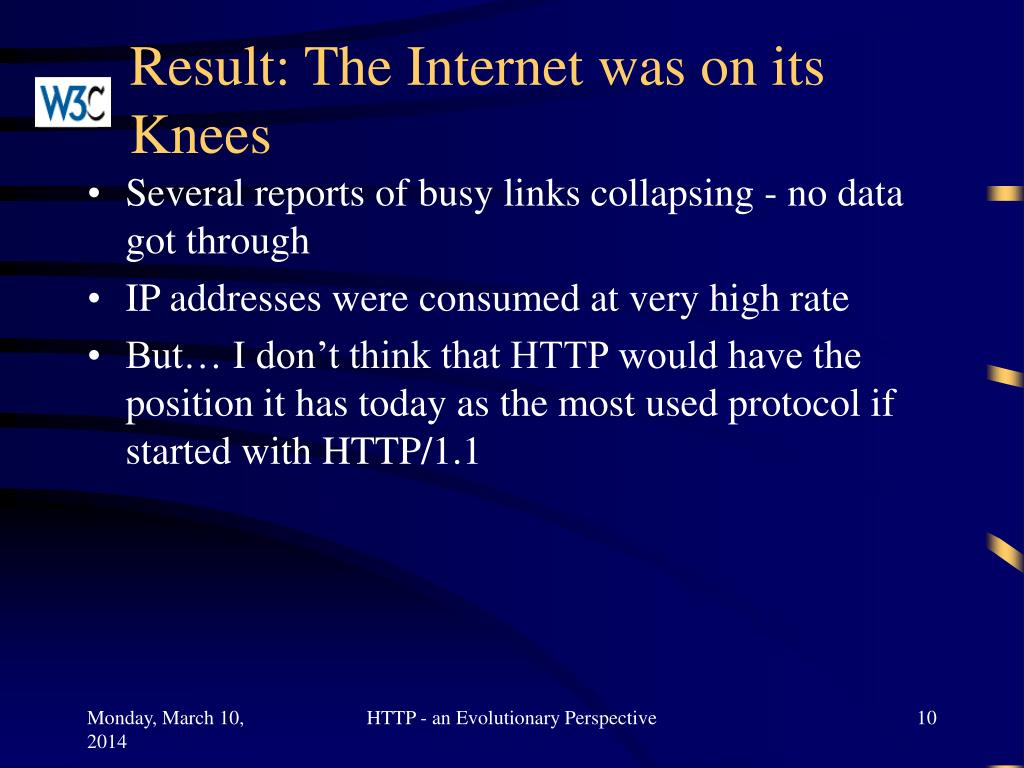 Result: The Internet was on its Knees