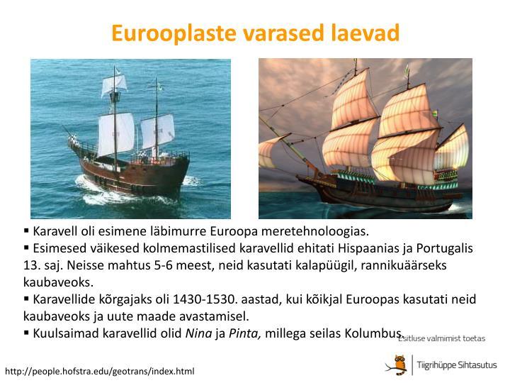 Eurooplaste varased laevad