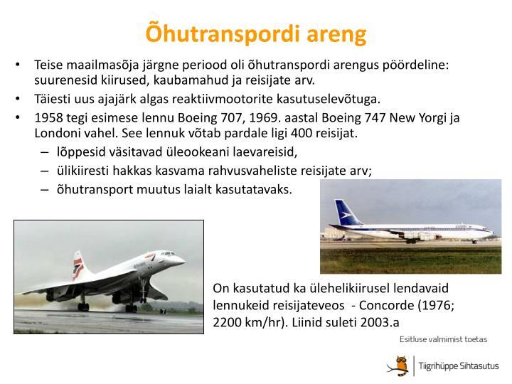 Õhutranspordi areng