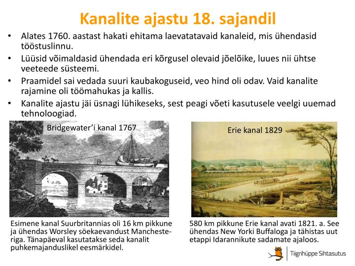 Kanalite ajastu 18. sajandil