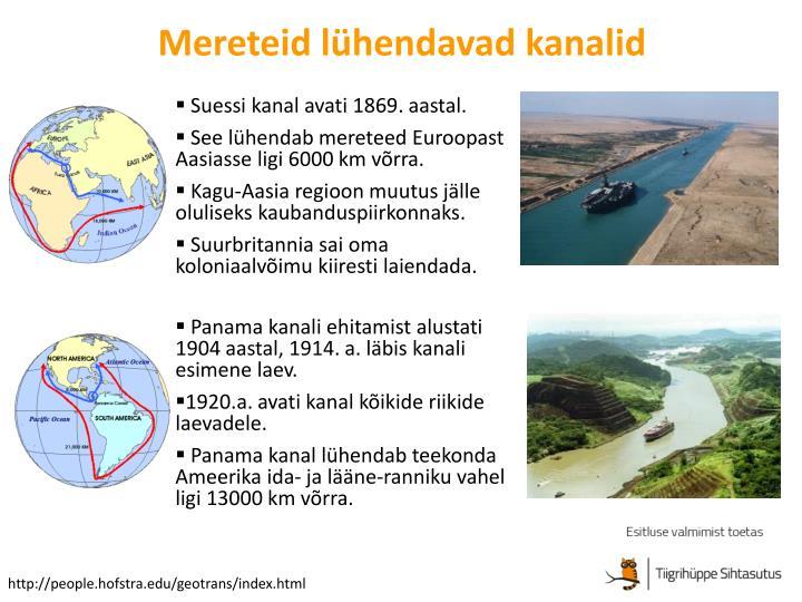 Mereteid lühendavad kanalid
