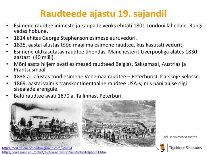 Raudteede ajastu 19. sajandil