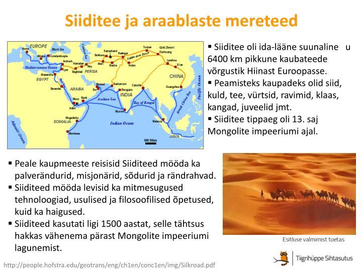 Siiditee ja araablaste mereteed