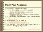 claim your accounts