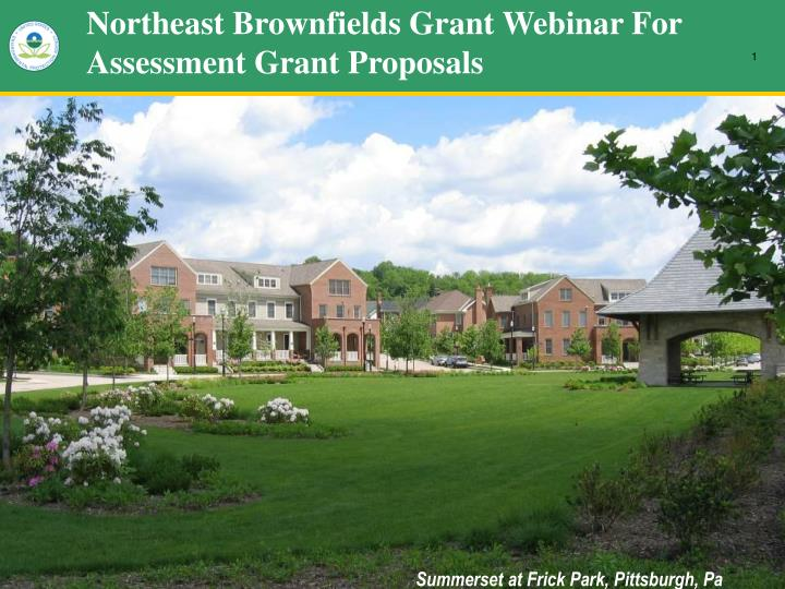 northeast brownfields grant webinar for assessment grant proposals n.