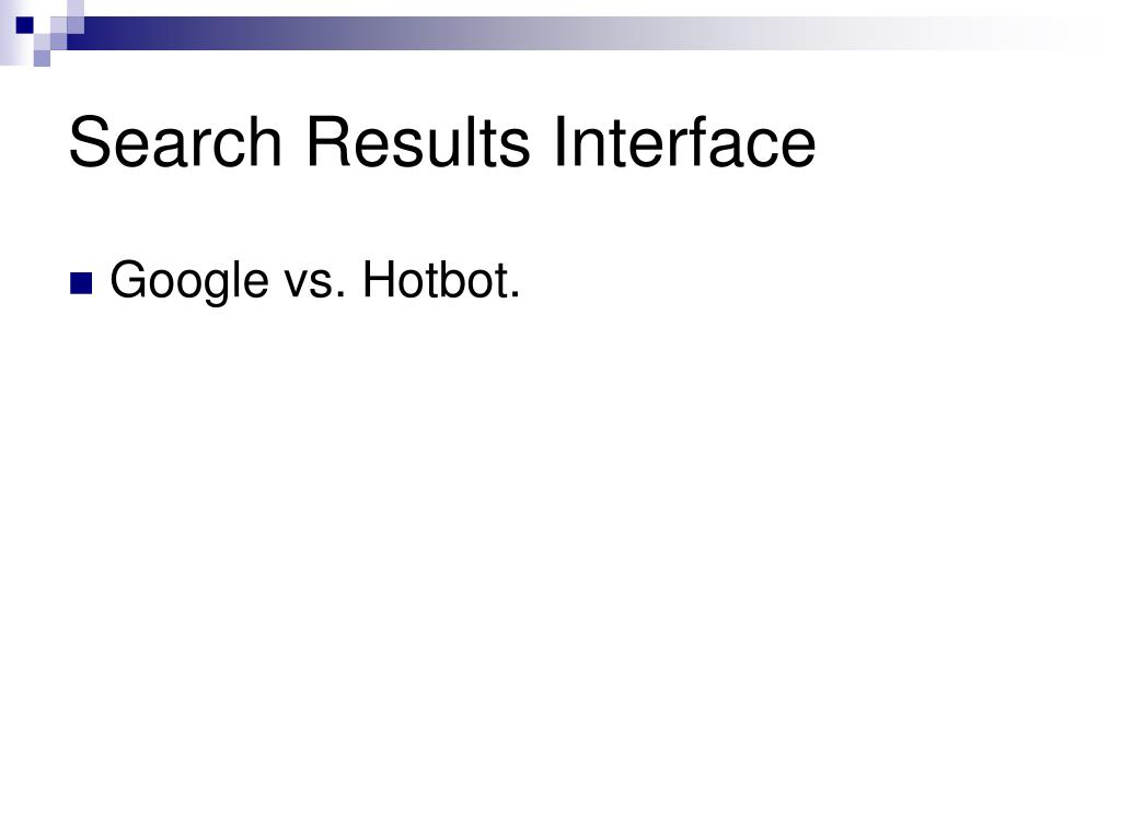 Search Results Interface