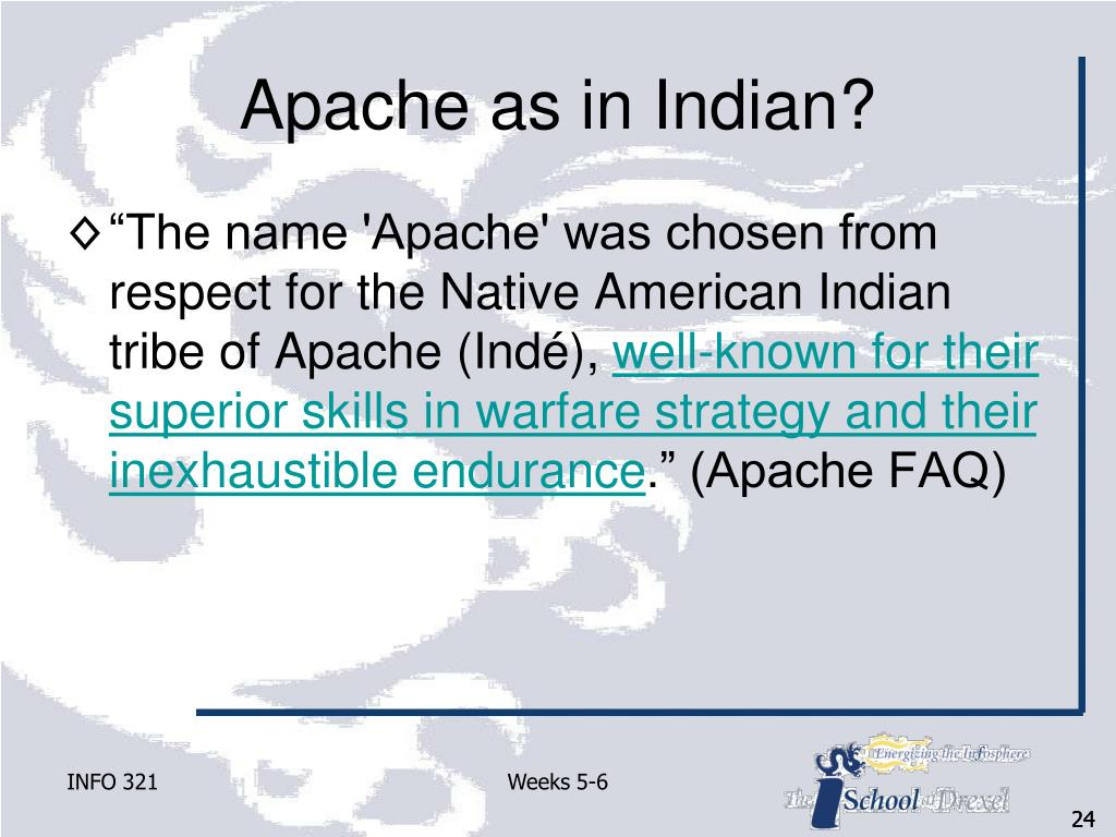 Apache as in Indian?