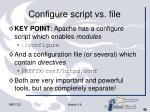 configure script vs file