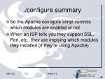 configure summary