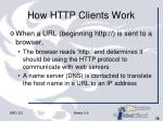 how http clients work