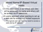 mixed name ip based virtual hosts
