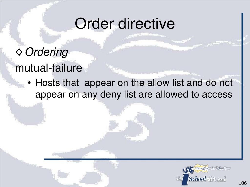Order directive