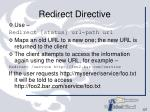 redirect directive