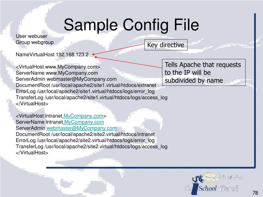 Sample Config File