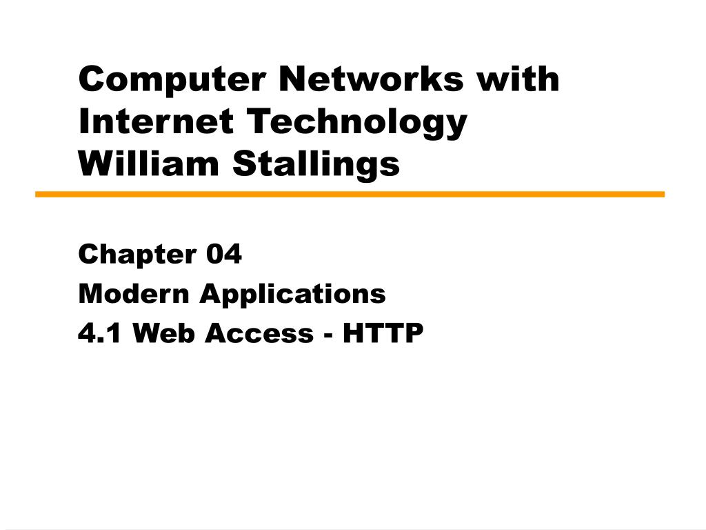 computer networks with internet technology william stallings l.