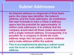 subnet addresses