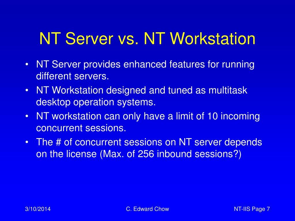 NT Server vs. NT Workstation