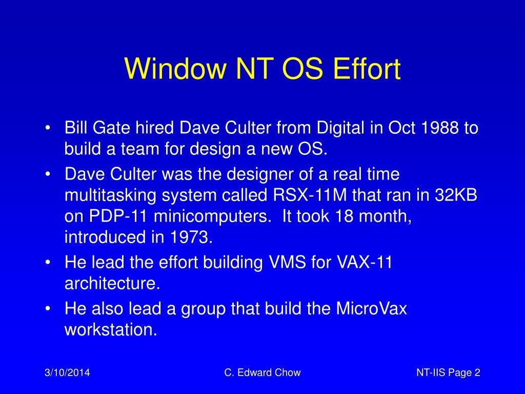 Window NT OS Effort