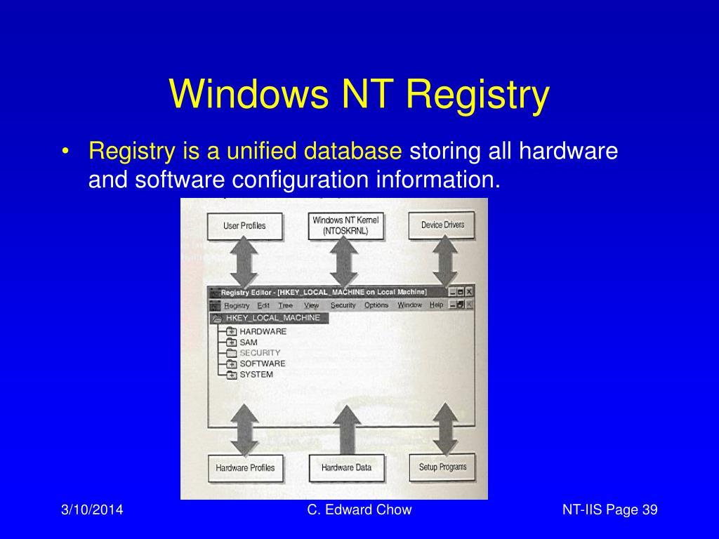 Windows NT Registry