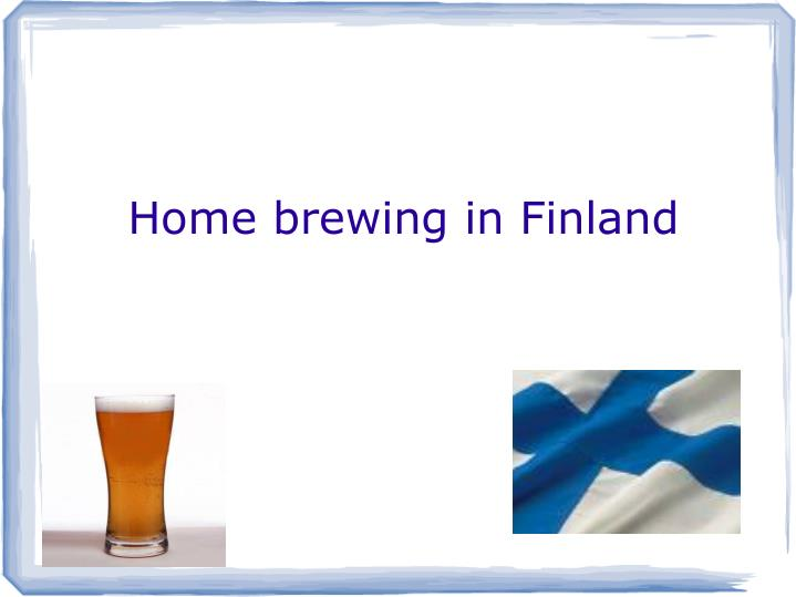 Home brewing in finland