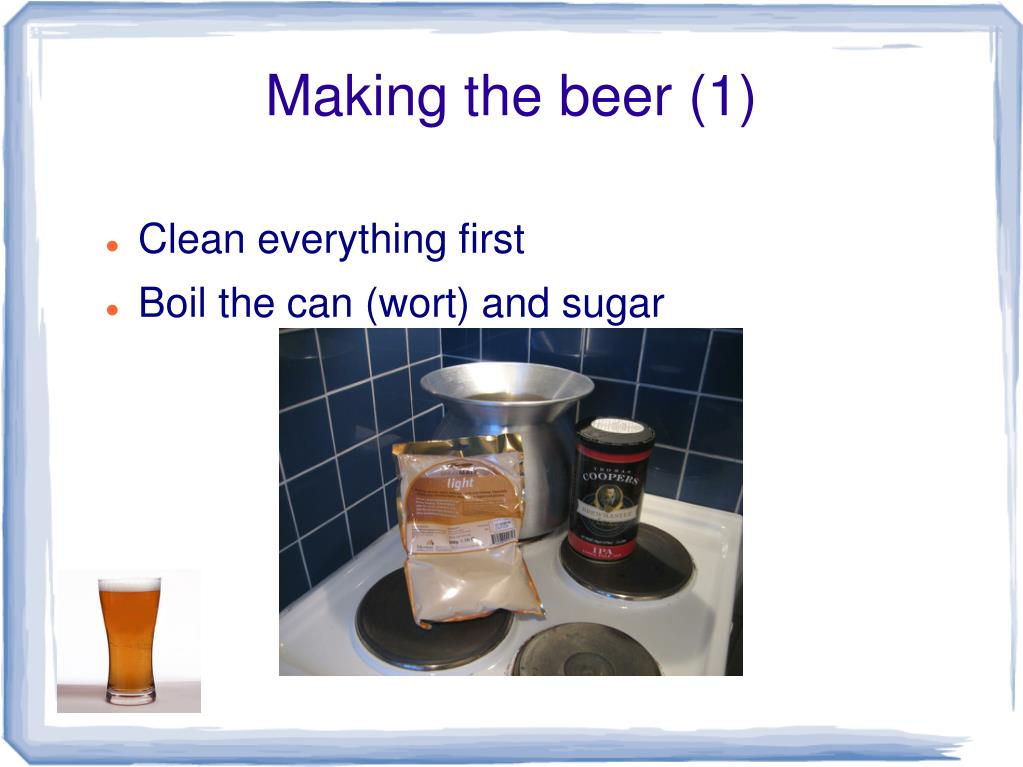 Making the beer (1)