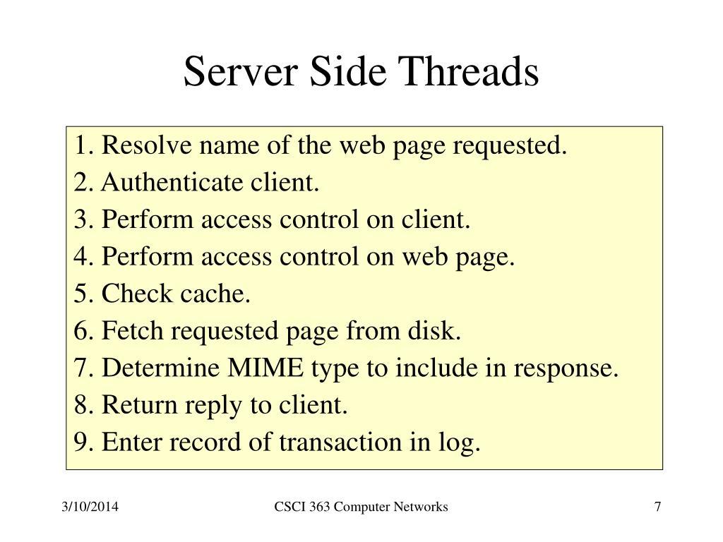 Server Side Threads