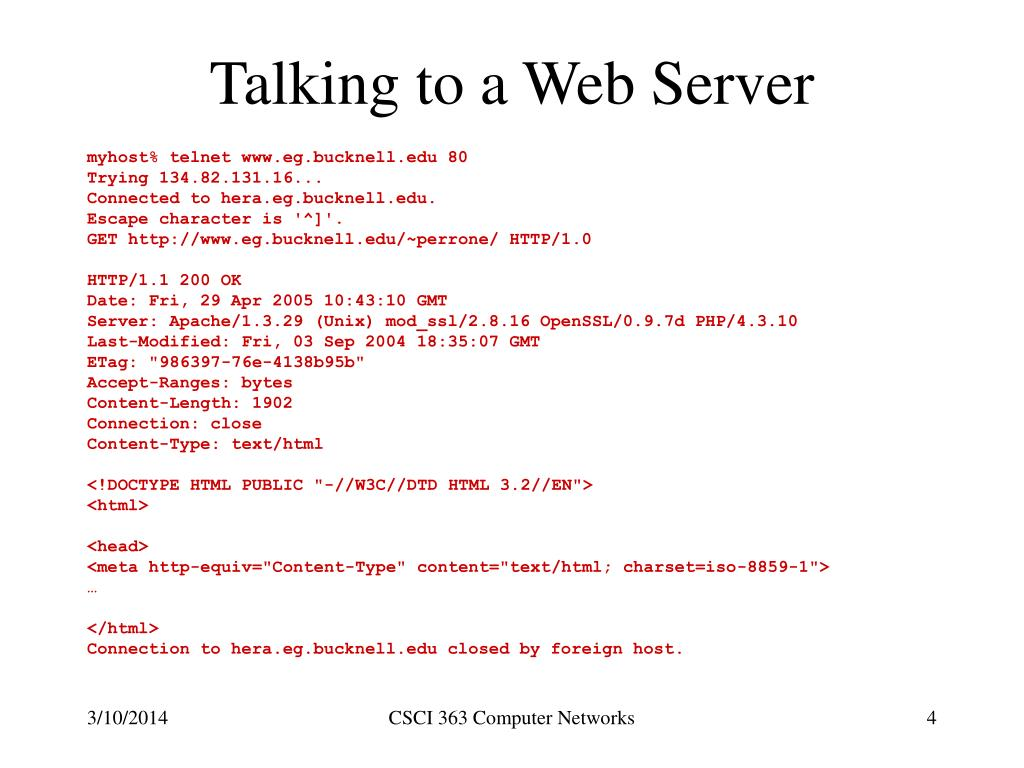 Talking to a Web Server