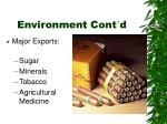 environment cont d
