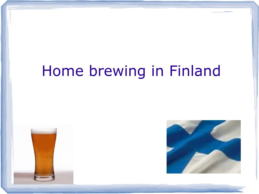 home brewing in finland l.