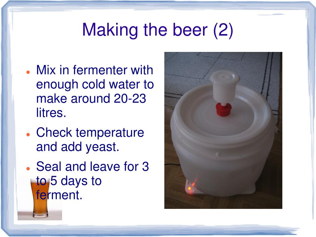 Making the beer (2)