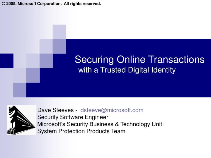 securing online transactions with a trusted digital identity n.