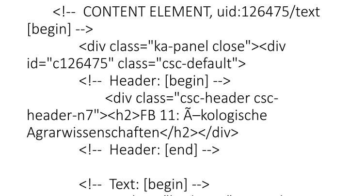 """</p> <p class=""""bodytext""""><ul><li><a href=""""http://www.uni-kassel.de/fb10/"""" target=""""_self"""">Fachbereichswebseite</a></li><li><a hre"""
