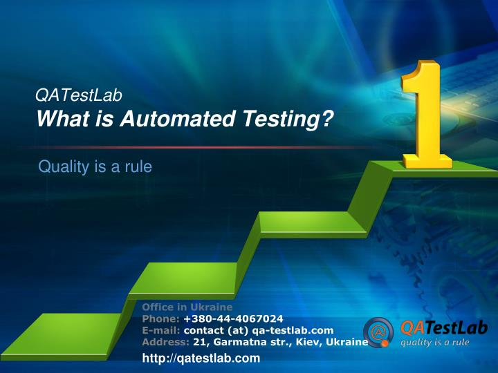 Qatestlab what is automated testing