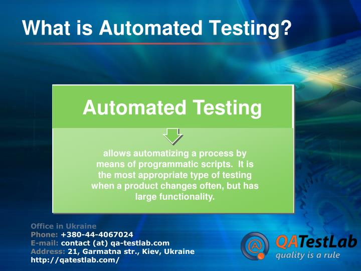 What is automated testing