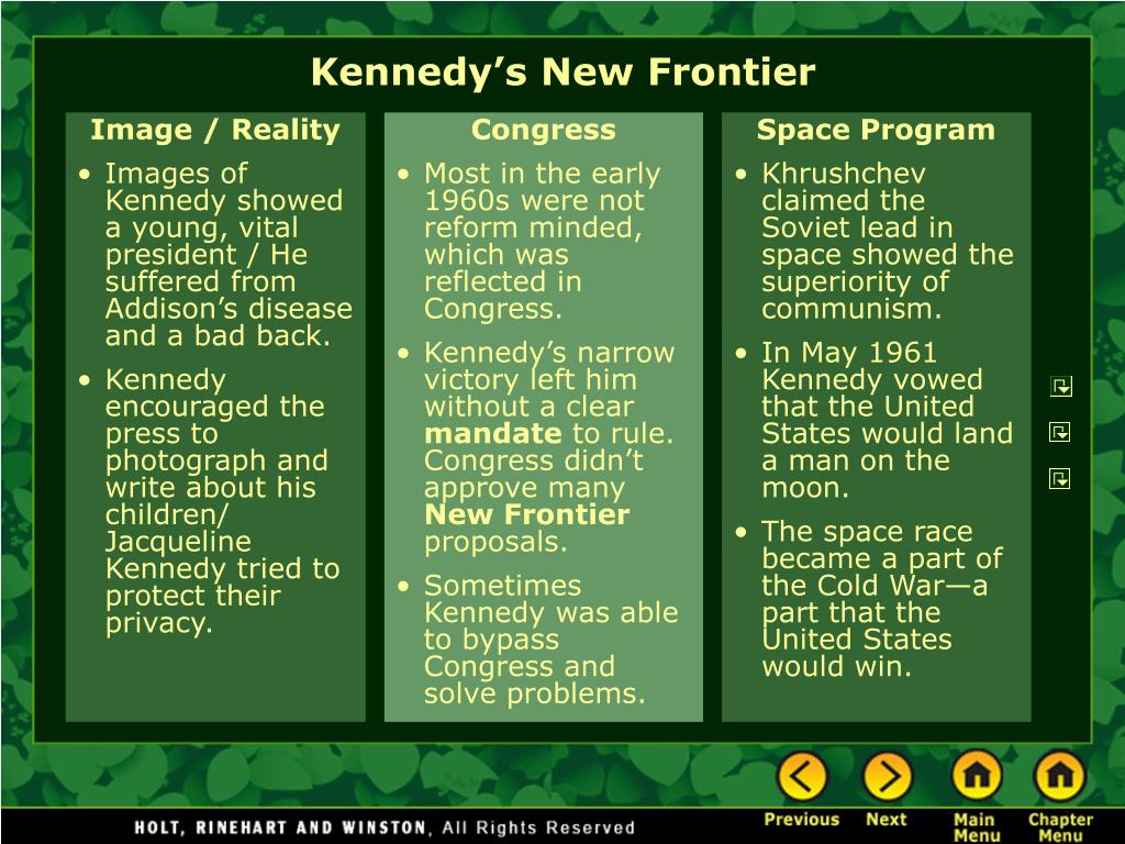 Kennedy's New Frontier