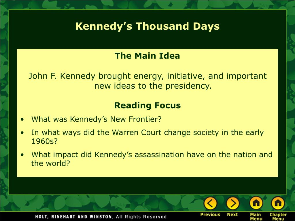 Kennedy's Thousand Days