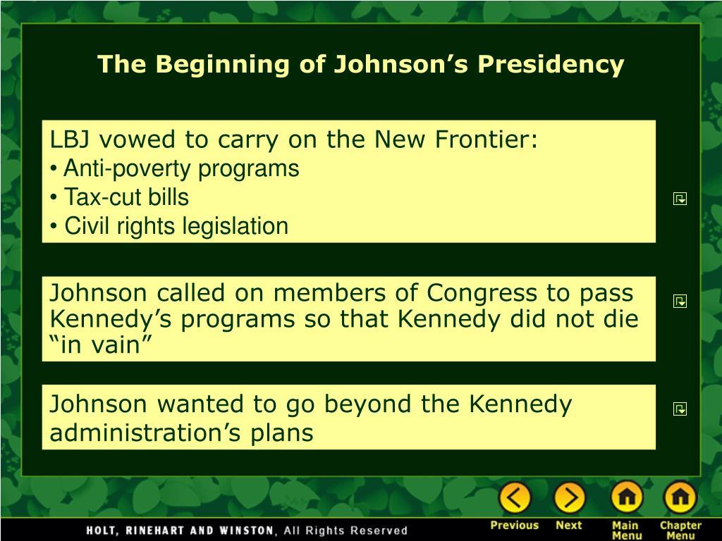 The Beginning of Johnson's Presidency