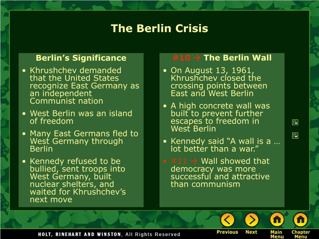 Berlin's Significance