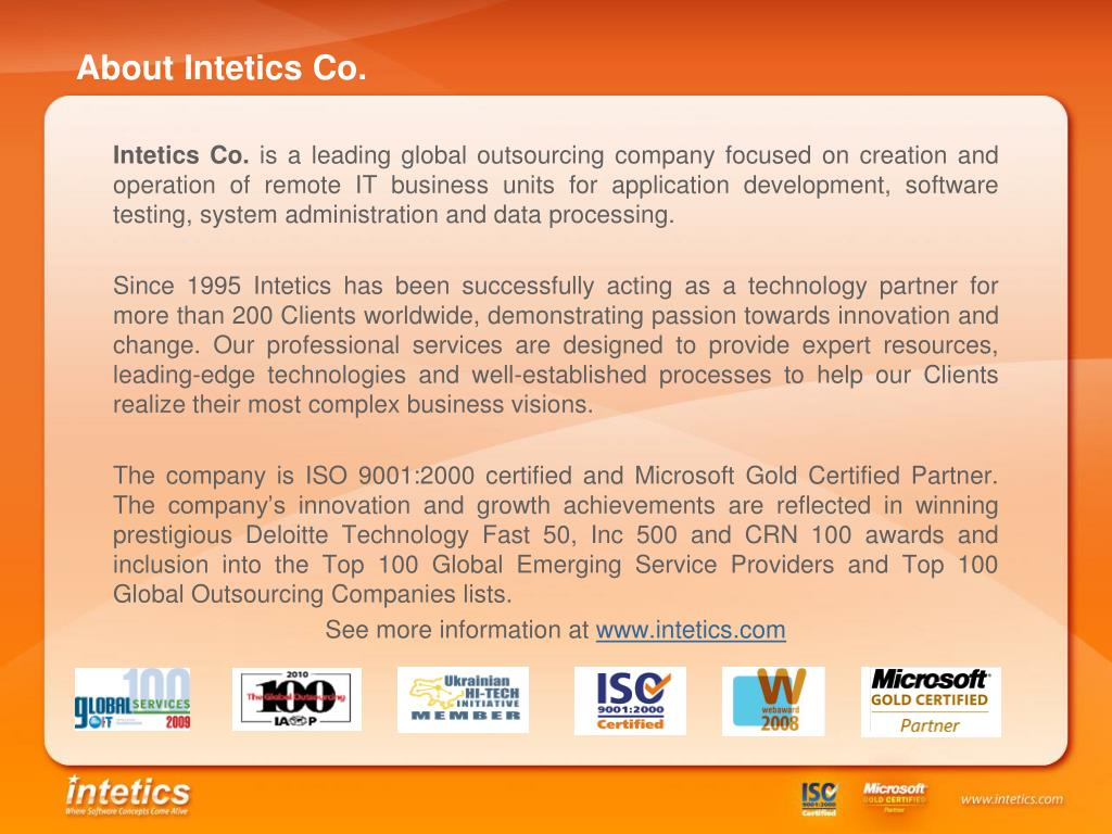 About Intetics Co.