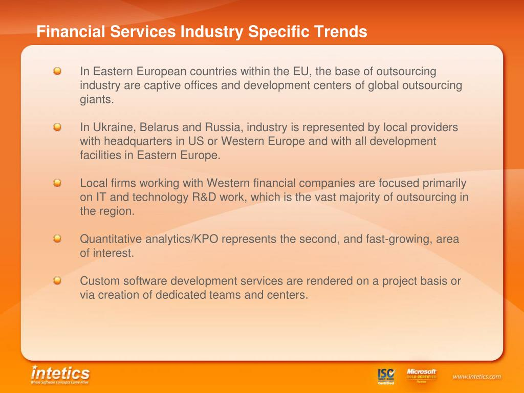 Financial Services Industry Specific Trends